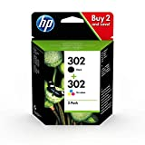 HP 302 Multipack Original Druckerpatronen (für HP DeskJet 1110/2130/3630, HP ENVY 4520,451X, HP...