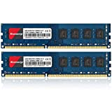 Kuesuny 16GB KIT (2X8GB) DDR3 1600MHz Udimm Ram PC3-12800 PC3-12800U 1.5V CL11 240 Pin 2RX8 Dual...