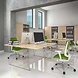 Profi 2er Team-Schreibtisch AIR Gruppenarbeitsplatz Team Bench Schreibtisch Doppel-Arbeitsplatz,...