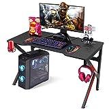 SIMBR Gaming Tische, 120 cm, K-Frame-Design, Großer Workst-Gaming-Tisch für Gaming-Laptop,...