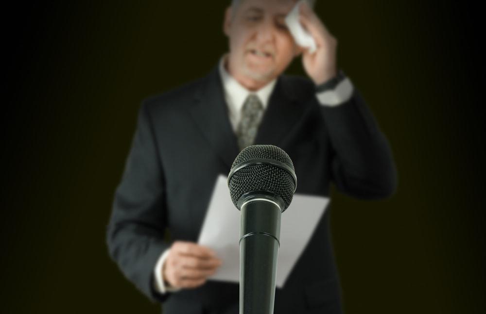 Nervosität Präsentation