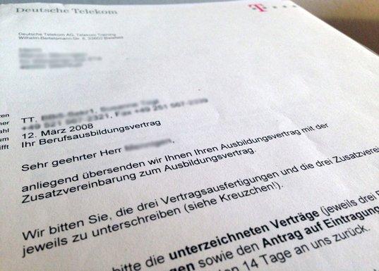 ausbildung zum it-systemkaufmann deutsche telekom, Einladung