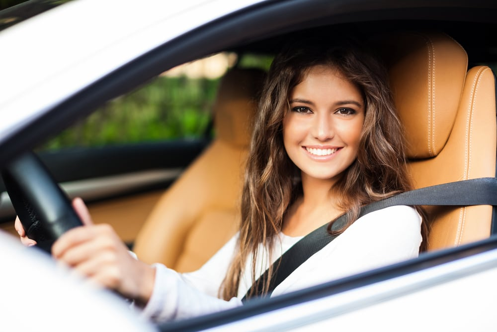 Autofahrerin