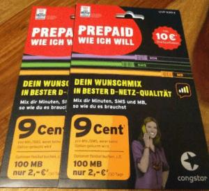 congstar Prepaid Karte
