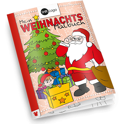Werbeartikel Weihnachts-Malbuch