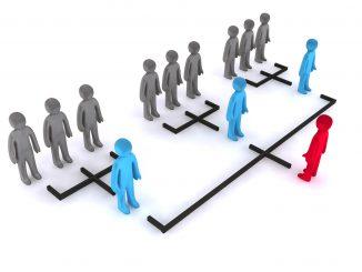 Männchen in einer Hierarchie