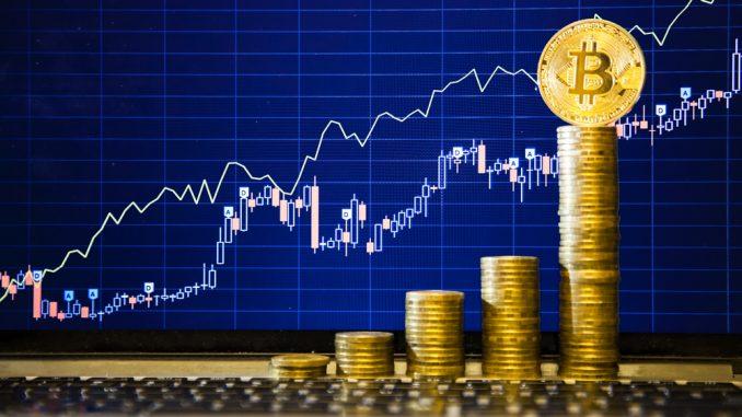 Bitcoin Aktienkurs als Grafik