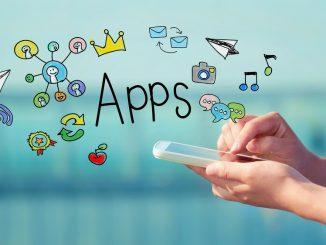 Das Wort Apps mit ganz vielen Icons drum herum