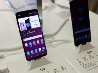 Das Samsung Galaxy S9 im Laden