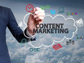 Content-Marketing als Schriftzug in einer Wolke