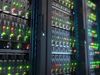 Ein Blade Server in der Nahaufnahme
