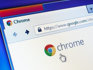 Chrome Browser in der Nahaufnahme