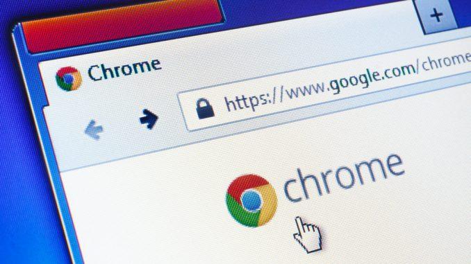 Chrome Browser in der Nahaufnahme