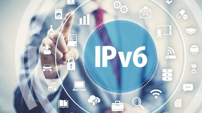IPv6 Schriftzug mit ganz vielen Symbolen drum herum