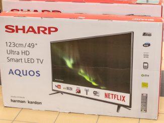 Ultra HD Fernseher von Sharp in der Original Verpackung