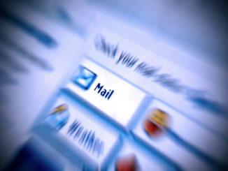 E-Mail Icon in der Nahaufnahme