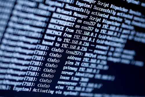 IP-Adressen auf schwarzem Hintergrund