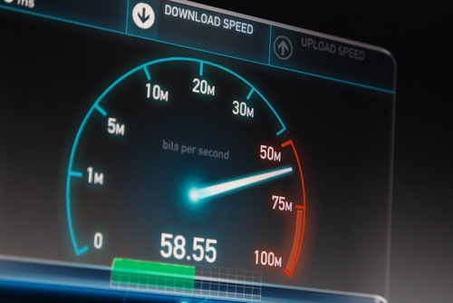 Downloadrate bei VDSL2 in Visualisierungsform