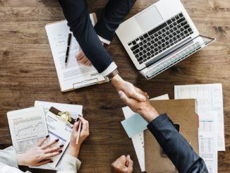 Händeschütteln Geschäftsabschluss Einschlagen Business