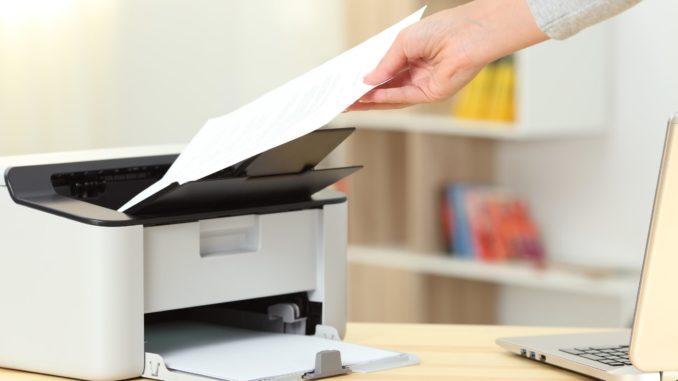 Ein weißer Drucker