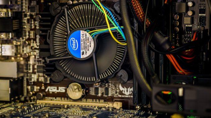 Ein CPU Lüfter in der Nahaufnahme