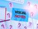 Visual Notes steht als Schriftzug auf blauem Hintergrund