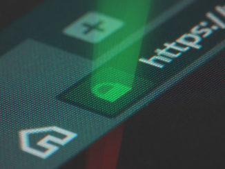 Ein grünes Schlosssymbol in der Browserzeile HTTPS