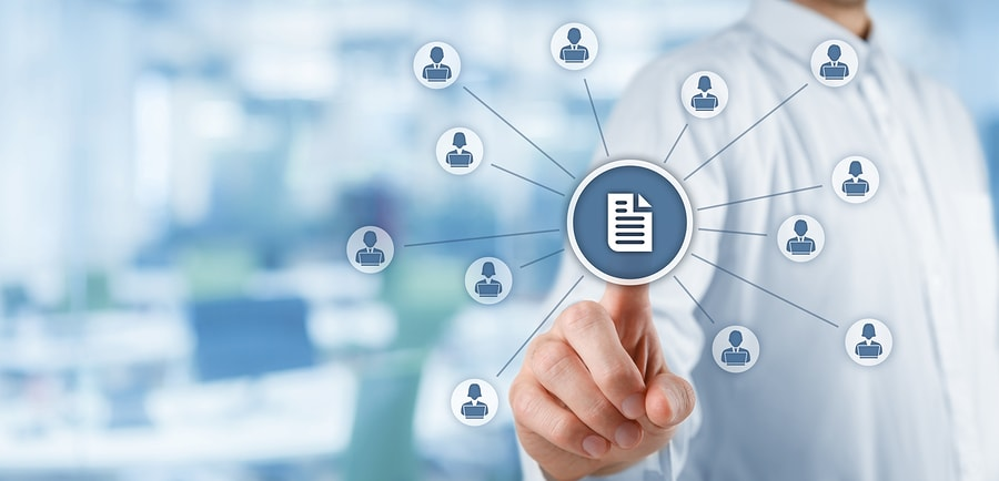 Beim Dokumentenmanagementsystem erhalten alle Mitarbeiter der Kanzlei Zugriff auf sämtliche Unterlagen und profitieren gleichermaßen von einer optimalen Transparenz.