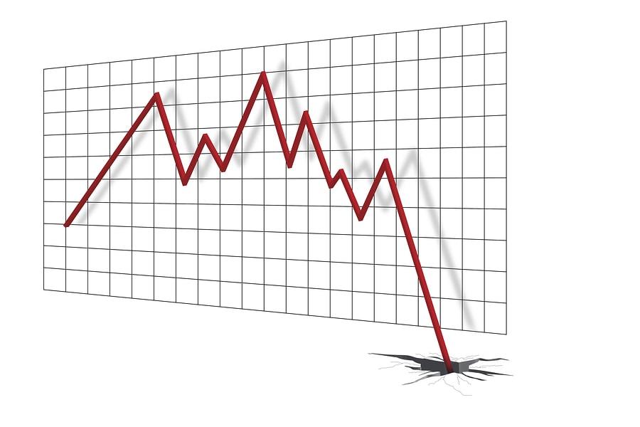 Absturz am Börsenabschwung zu Boden