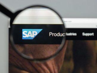 SAP Logo in der Nahaufnahme im Browser
