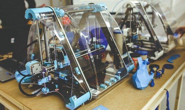 3D-Drucker in der Nahaufnahme