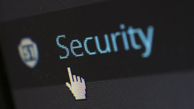 Security Symbol im Browser mit Mauspfeil darunter
