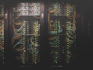 Foto eines Serverschranks