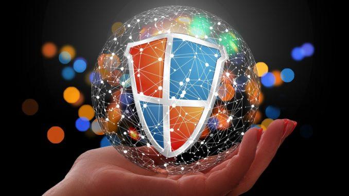 Grafik eines Schutzschildes im Computerdesign