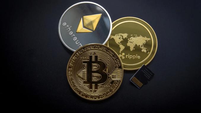 Grafik mit Kryptowährungen