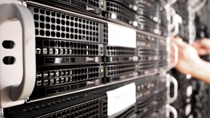Nahaufnahme von Server PCs