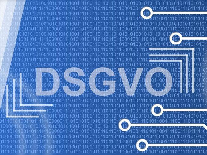 Grafik mit DSGVO Schriftzug